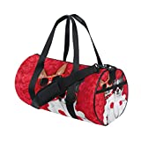 Unisex Couple Dogs Lying Bed Gym Sport Team Issue Duffel Bag by Top Carpenter