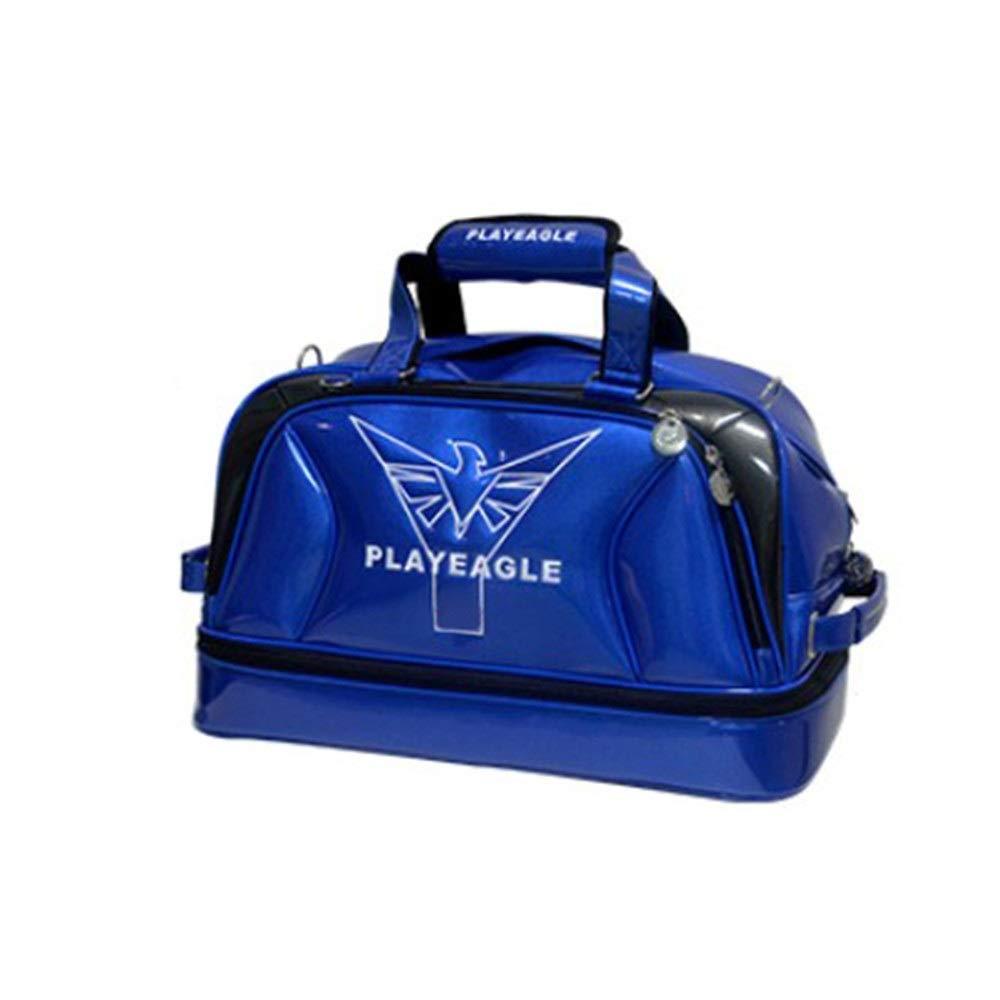 ゴルフ衣類バッグ 収納バッグ 防水 旅行バッグ アウトドア ジムバッグ 大容量 フィットネスハンドバッグ ブルー 旅行 スポーツ ラゲッジバッグ スポーツ 旅行バッグ M ブルー Techecho B07R55MZH1 ブルー Medium