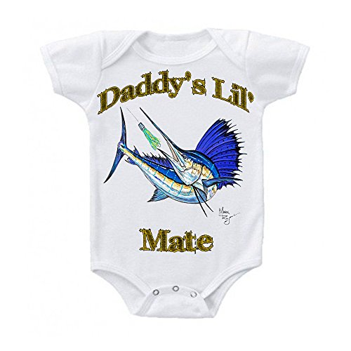 Mark Ray Fishing Apparel Baby Onesie - By Lobo Performance Gear (0-3 Months , Daddy's Lil' Mate)