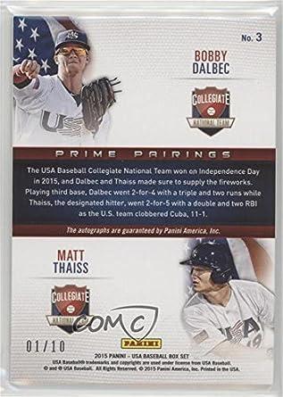 Amazon.com: Matt Thaiss; Bobby Dalbec #1/10 (Baseball Card ...