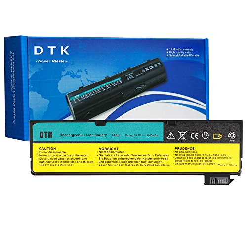 DTK 0C52862 0C52861 New Laptop Battery Replacement for Lenovo IBM Thinkpad L450 L460 T440s T440 T450 T450s T460 T460P T550 T560 P50S W550s X240 X250 X260 Series 10.8V 4400mAh 6 Cell