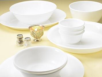 corelle dinner set deals india. corelle livingware winter frost white dinner set, 21-pieces set deals india
