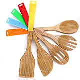 best seller today 5 Piece Bamboo Wood Nonstick Cooking...