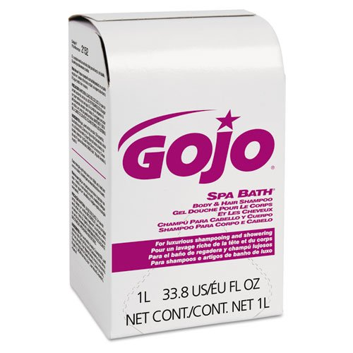 GOJO Spa Bath Body & Hair Shampoo, Herbal Scent, Rose Color, NXT 1000 ml Refill - Includes eight 1000 ml refills per case.