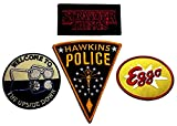 Stranger Things TV Show Patch Set of 4 Iron On Patches