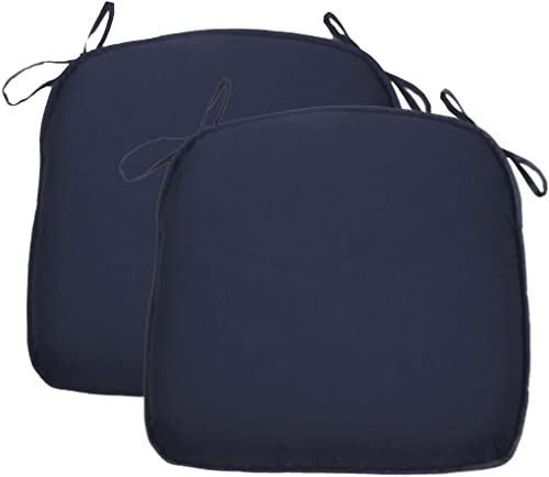 2 Pack Water Repellent Patio Chair Cushion Breathable 17″x16″ Seat Cushion