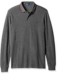 Fred Perry mens Long Sleeve Twin Tipped Shirt
