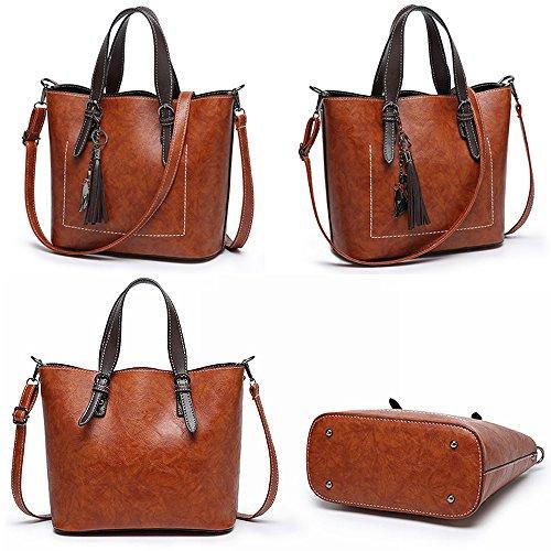 Bag Bag Shoulder Shoulder Large Women's Bag Messenger Brown Daily New Bag Leisure Work Portable Retro Wild Bag Capacity GKPLY nwzY8qZZX
