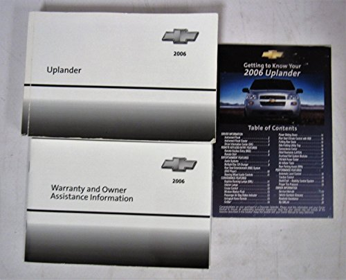 2006 Chevy Chevrolet Uplander Owners Manual book