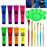 Body Paint - Set of 8 Tubes - Neon