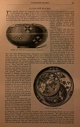 1879 Pottery China Vases Cloisonne Enamel Japanese Chinese illustrated
