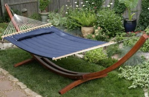 (Apontus Quilted Hammock Pillow Top, Navy Blue)