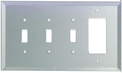 Amazon.com: CRL – Decora & Triple Toggle placa Espejo de ...