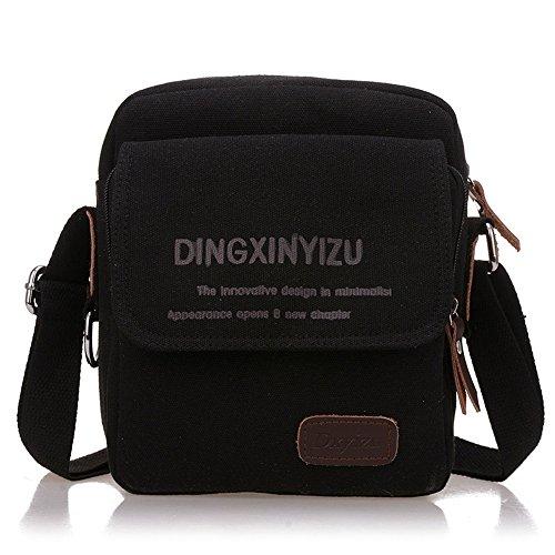 Bolso de hombro de lona al aire libre de 14 pulgadas para hombres al aire libre de Crossbody (Color : Caqui) Color Chocolate