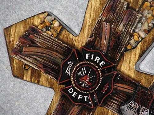 decorative wall cross, handmade, fireman cross,wooden,