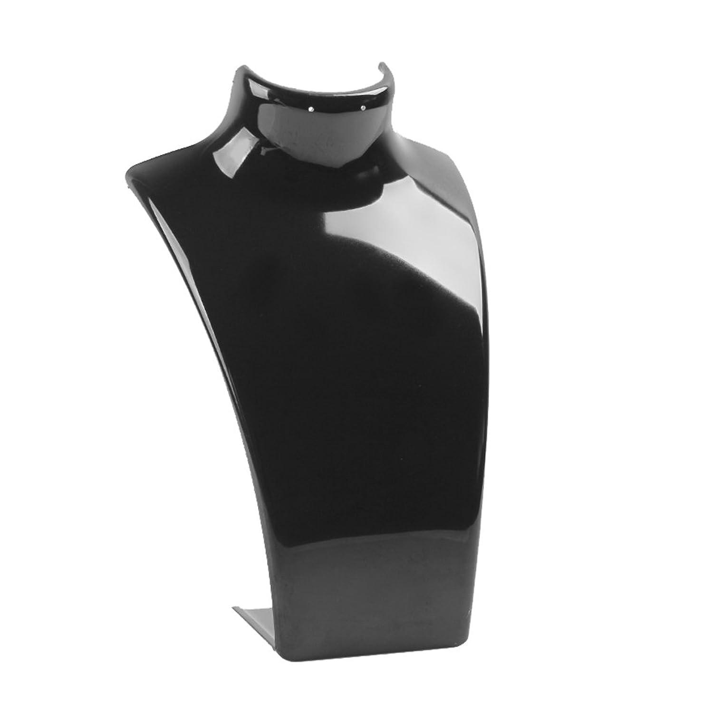 【ノーブランド品】ネックレス ディスプレイ用 プラスチック製 ホルダー スタンド 胸像型 (ブラック)