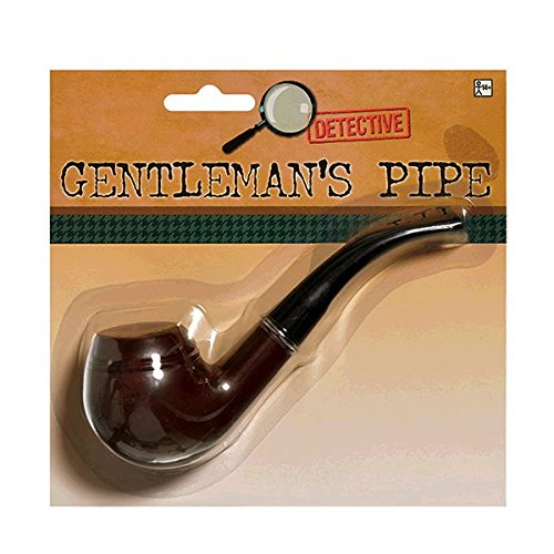 [Roaring '20s Costume Party Gentleman's Pipe, Brown, Wood, 1 1/2