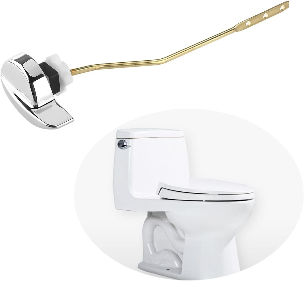 Copper Lever Jmkcoz Angle Fitting Side Mount Toilet Flush Lever Handle for TOTO Kohler Toilet Tank Universal Fit For Most Toilet Toilet Repair Handle with Nut