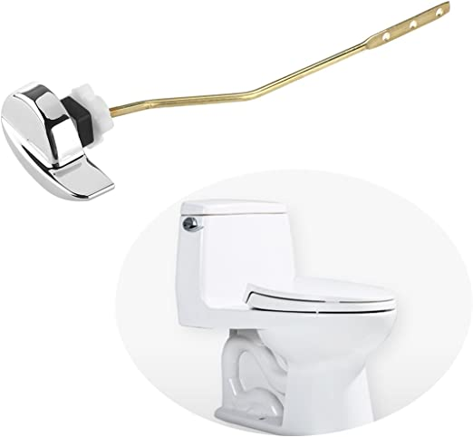 Toilet Flush Lever Handle Side Mount For Angle Fitting Toilet Tank LP