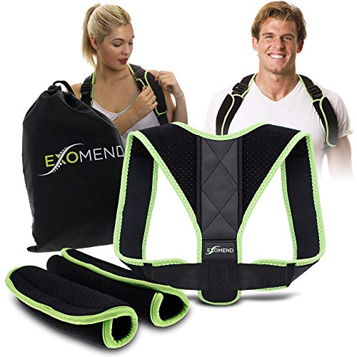 ExoMend Posture Corrector Brace for Men and Women Gamers - Reduce Back, Neck and Shoulder Pain - Increase Focus and Minimize Fatigue - Fits Most Adults // GameStrap Model X // ()