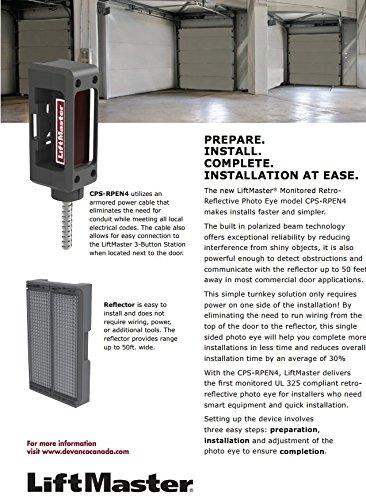 LiftMaster CPS-RPEN4 Retro-Reflective Photo Eye | Commercial Garage Doors | Gate Operators | Monitored Retro Reflective Photo Eye Safety System