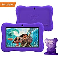 Contixo Kids Safe 7 Quad-Core Tablet 8GB, Bluetooth, Wi-Fi, Cameras, 20+ Free Games, HD Edition w/ Kids-Place Parental Control, Kid-Proof Case (Purple) - Best Gift