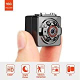Pocket Hidden Spy Mini Camera - FITFORT FULL HD 1080P 12MP Portable Nanny Cam with Night Vision & Motion Detection for Home and Office Surveillance, 16GB Micro SD Card Included