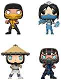 Funko Games: Pop Mortal Kombat Collectors Set-Scorpion, Subzero, Kitana, Raiden Action Figure