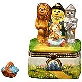 Wizard of Oz Tinman Scarecrow Toto Trinket Box phb