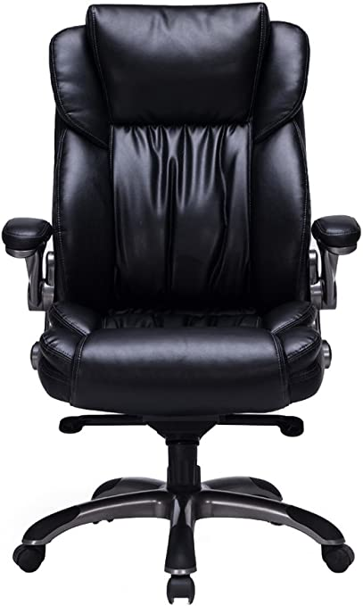 VIVA OFFICE Bonded Leather Executive Chair - Best Office Chair For Lower Back Pain