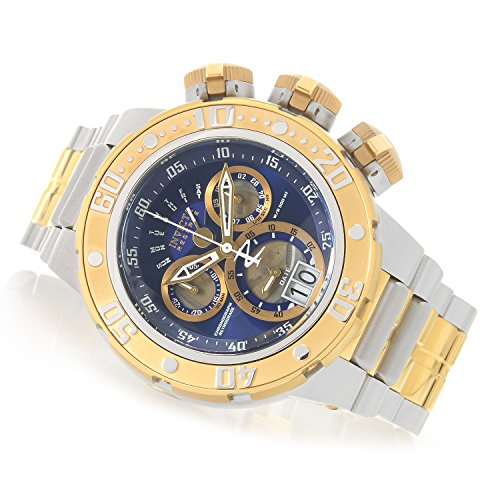 Invicta Men's 'Reserve' Quartz Silver and Gold and Stainless Steel Casual Watch, Color:Two Tone (Model: 21605)