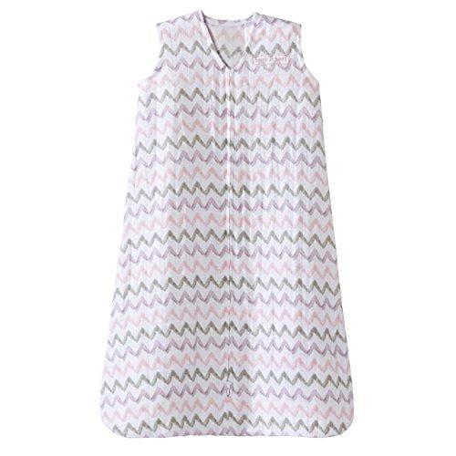 Halo 100% Cotton Muslin SleepSack Wearable Blanket, Pink Chevron, X-Large