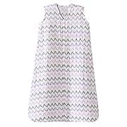 HALO 100% Cotton Muslin SleepSack Wearable Blanket, Pink Chevron, Large