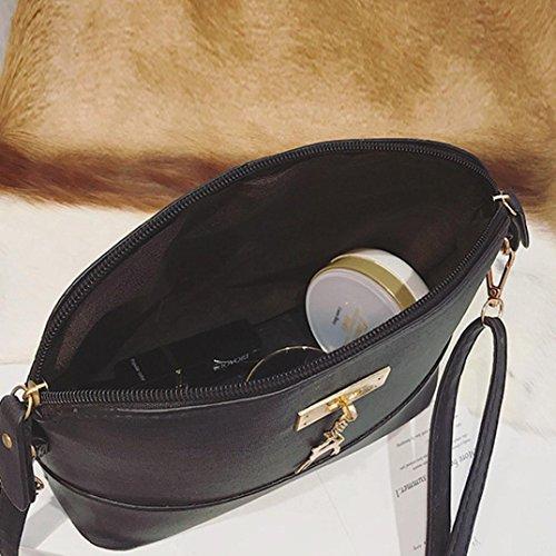 Sac en zycShang Sac occasionnels Vintage Petits des Bandoulière un Shell Paquets ornements Sac élégantes cuir métal femmes à Femmes avec Noir sacs coquille de de en à Sac bandoulière q8pEwxzX8