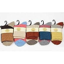 XT-XINTE 5 Pairs Winter Warm Rabbit Wool Socks High Cuffs Socks For Women Lady
