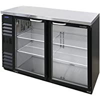 Norlake NLBB60NG AdvantEDGE 60 Two Section Glass Door Refrigerated Back Bar Storage Cabinet