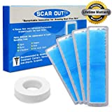 Facial Soft Tissue Injury - ScarOut! Silicone Scar Sheets for Scar Removal (2-4 Month Supply) – C Section Recovery Scar Treatment, Keloid Scar Removal and Acne – 4x Silicon Sheets For Scars in two sizes – Scar Gel Silicone Tape