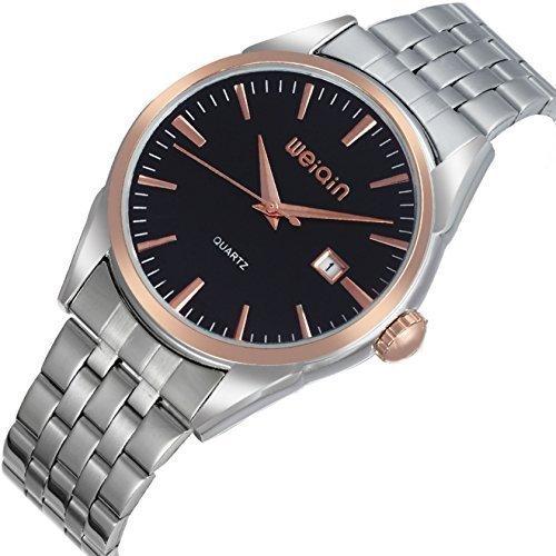 Reloj de hombre clásico, formal, negocios, acero, estuche - nuevo para 2015: Amazon.es: Relojes