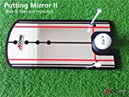 A99 Golf Putting Mirror Training Alignment New Aid Practice Trainer Portable with a Pouch Bag