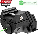 Laser Sight Rechargeable Mini Sub Compact Tactical Rail Mount Low Profile Green Dot