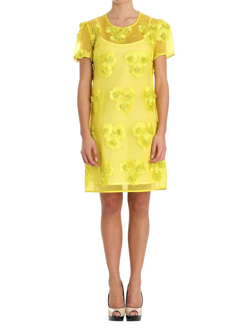 Parosh P.A.R.O.S.H. Women's D721441pytti016 Yellow Polyester Dress