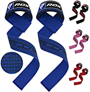RDX Weight Lifting Straps,Padded Wrist Support Non Slip Flex Gel Grip,Great for Bodybuilding,Powerlifting, Gym