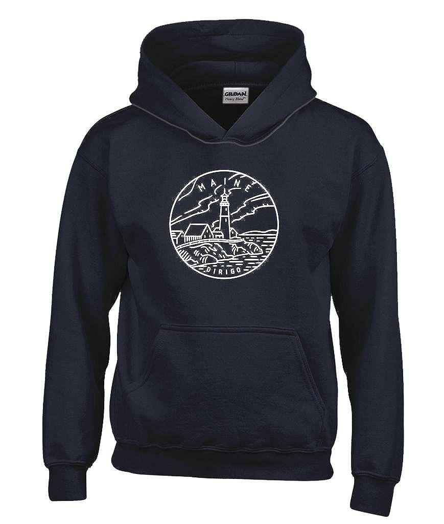 Kids Sweatshirt Maine State Design Youth Hoodie