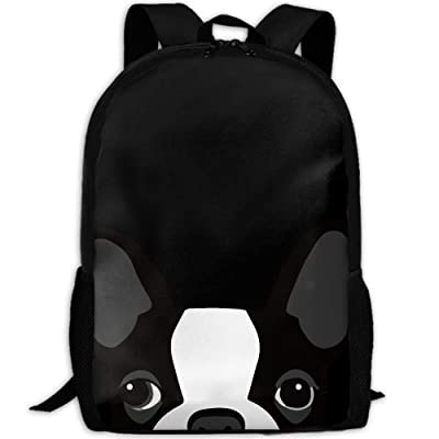 Funny Boston Terrier Interest Print Custom Unique Casual Backpack School Bag Travel Daypack Gift: Toys & Games