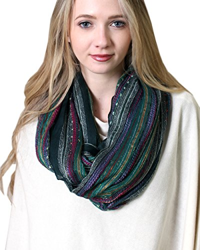 Review Anika Dali Festival Bliss Shimmer Infinity Loop Scarf (Festive Emerald Green)