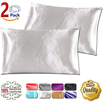 Amazon Com Luxury Satin Pillowcase W Hidden Zipper King