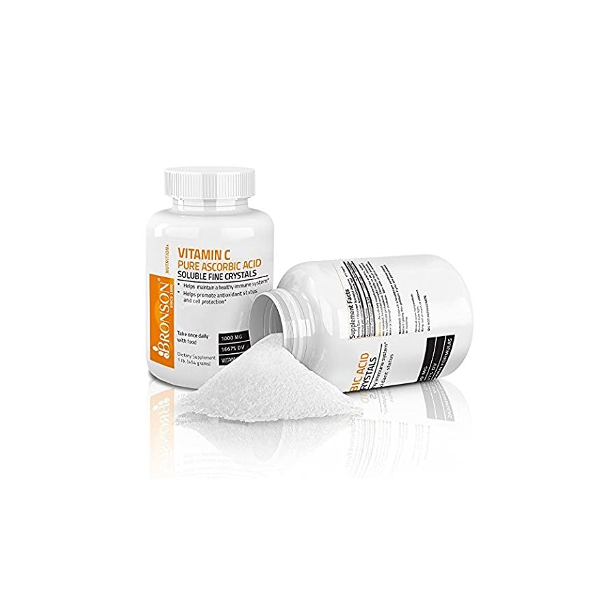 Bronson Labs: Vitamin C Crystals Pure Ascorbic Acid Soluble Fine Crystals Vitamin C Powder