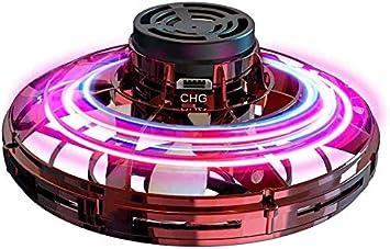 Opinión sobre Abree Flying Toys para Adultos y niños con Carga USB Mini UFO Drone Spinner Manual con Luces LED RGB giratorias y Brillantes de 360 ° (Red)