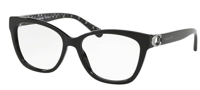 5333c13a9fbe0 Amazon.com  Coach Women s HC6120 Eyeglasses Black Demo 52mm  Clothing