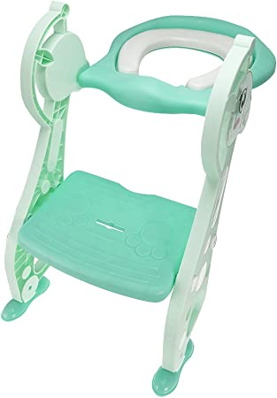 YICIX Reductor WC Plegable Bebé Potty Training Silla Escalera Niños Potty Baby Asiento de Inodoro Infante WC Training Plegable Asiento Paso Taburetes Regalos,Green: Amazon.es: Hogar